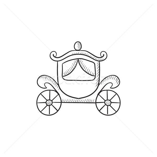 Wedding carriage sketch icon. Stock photo © RAStudio