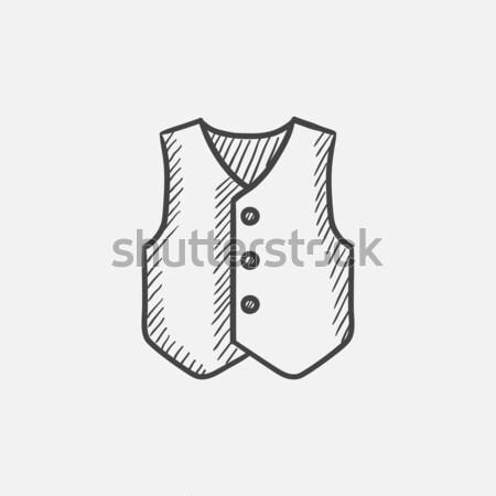Waistcoat sketch icon. Stock photo © RAStudio