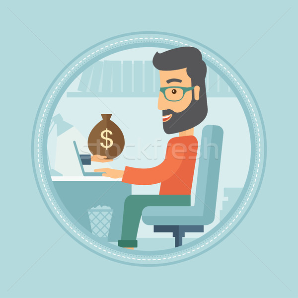 Man earning money from online business. Stock photo © RAStudio