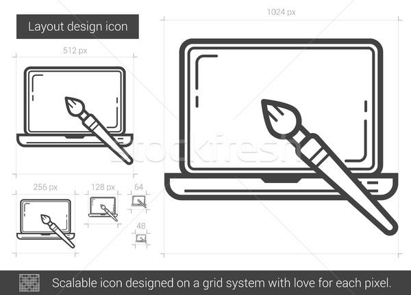 Layout Design line Symbol Vektor isoliert Stock foto © RAStudio