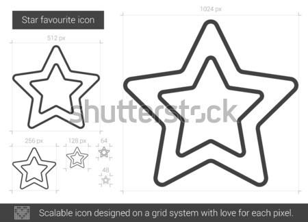 Star ulubiony line ikona wektora odizolowany Zdjęcia stock © RAStudio