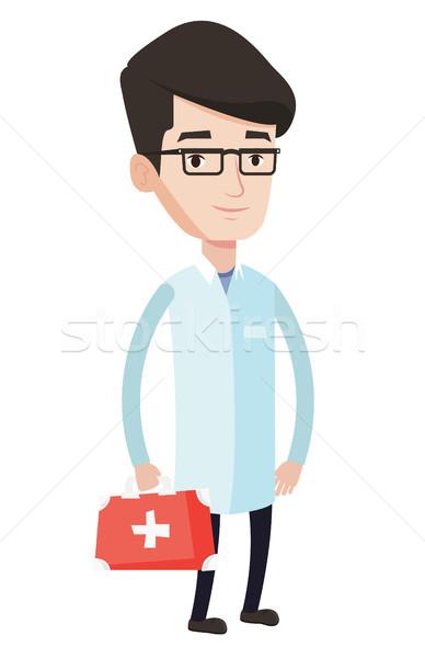 Lekarza pierwsza pomoc polu młodych Zdjęcia stock © RAStudio