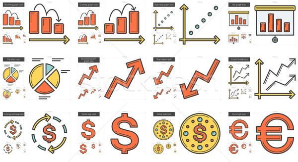 Business line icon set. Stock photo © RAStudio