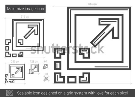 Maximize image line icon. Stock photo © RAStudio