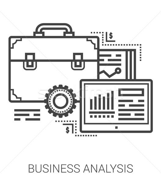 Business analysis line icons. Stock photo © RAStudio