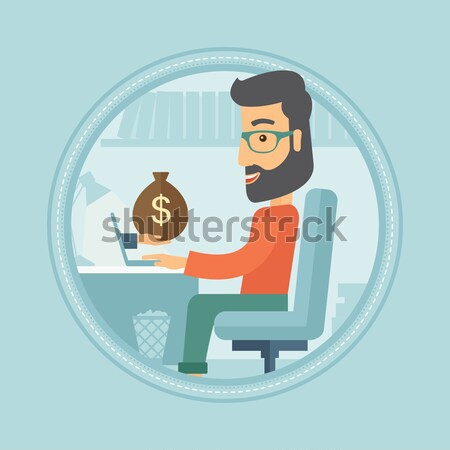 Man earning money from online business. Stock photo © RAStudio