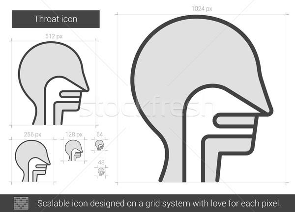 Garganta linha ícone vetor isolado branco Foto stock © RAStudio