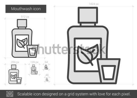 Mouthwash line icon. Stock photo © RAStudio