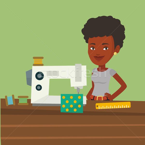 Machine à coudre atelier travail drap usine couture Photo stock © RAStudio