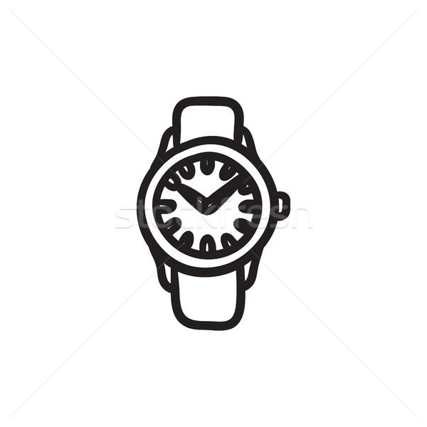 Wrist watch sketch icon. Stock photo © RAStudio