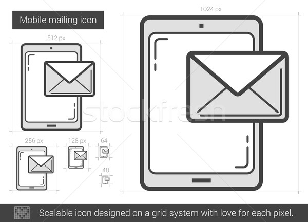 Mobile mailing line icon. Stock photo © RAStudio