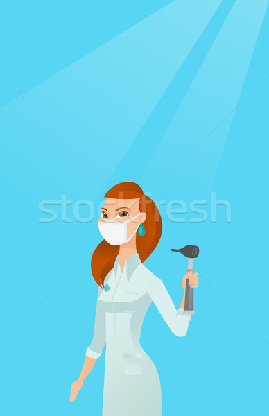 Ear nose throat doctor vector illustration. Stock photo © RAStudio
