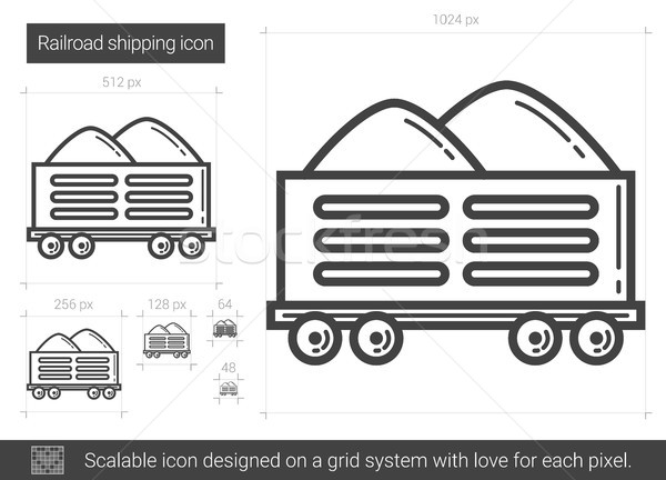 Railroad shipping line icon. Stock photo © RAStudio