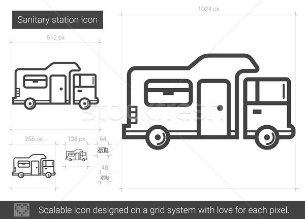 Sanitary station line icon. Stock photo © RAStudio