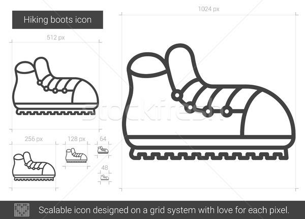 Hiking boots line icon. Stock photo © RAStudio
