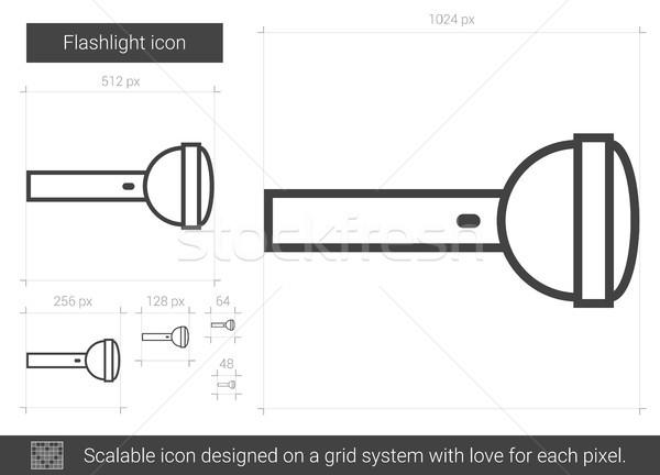 懐中電灯 行 アイコン ベクトル 孤立した 白 ストックフォト © RAStudio