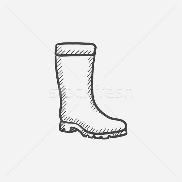 High boot sketch icon. Stock photo © RAStudio