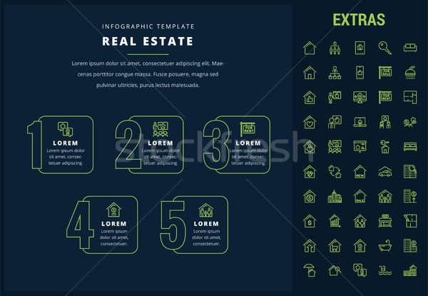 Real estate infographic template, elements, icons. Stock photo © RAStudio