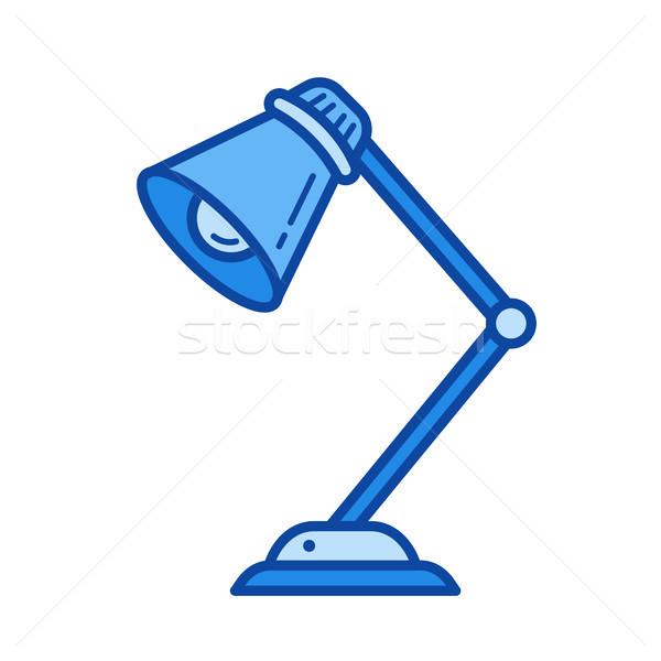 Table lamp line icon. Stock photo © RAStudio