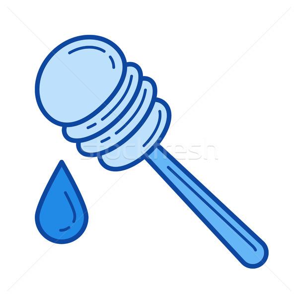 Honing lijn icon vector geïsoleerd witte Stockfoto © RAStudio