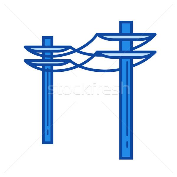Stockfoto: Macht · lijn · icon · vector · geïsoleerd · witte