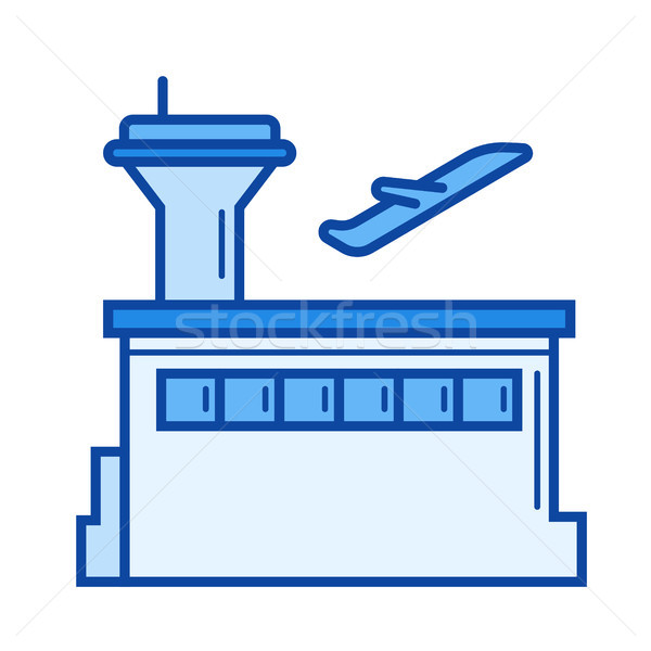 Plane departure line icon. Stock photo © RAStudio