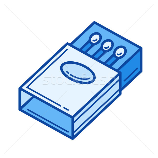 Match ligne icône vecteur isolé blanche Photo stock © RAStudio