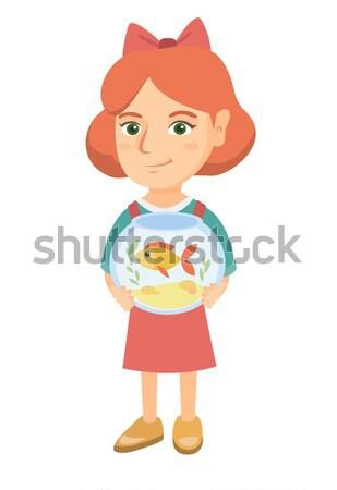 Piccolo ragazza vassoio fast food Foto d'archivio © RAStudio