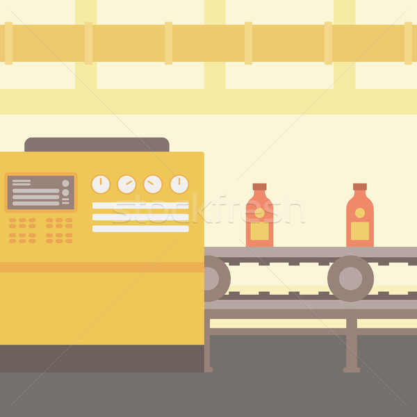 Background of conveyor belt with bottles. Stock photo © RAStudio
