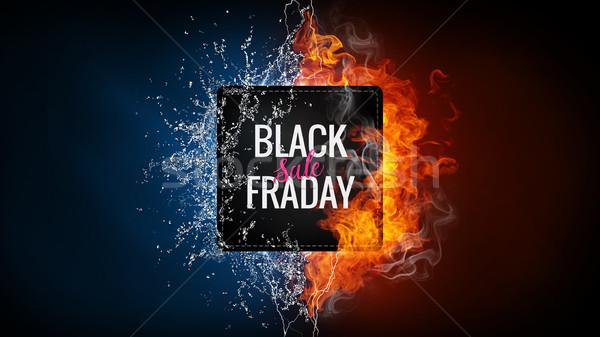 черная пятница продажи реклама баннер стороны элемент Сток-фото © RAStudio