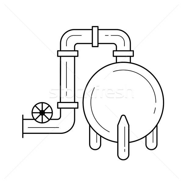 ガス 精製所 ベクトル 行 アイコン 孤立した ストックフォト © RAStudio