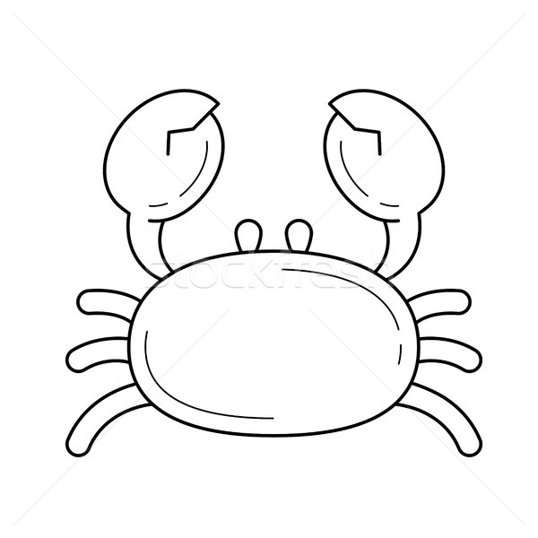 Crab vector line icon. Stock photo © RAStudio