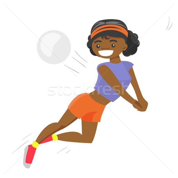 African-american sportswoman playing volleyball. Stock photo © RAStudio