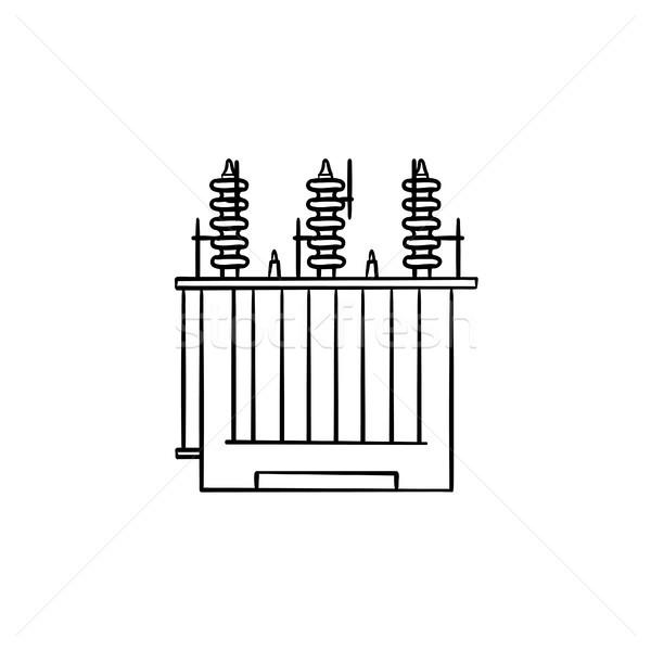 электрические напряжение трансформатор рисованной болван Сток-фото © RAStudio