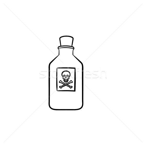 Stock photo: Poison hand drawn outline doodle icon.