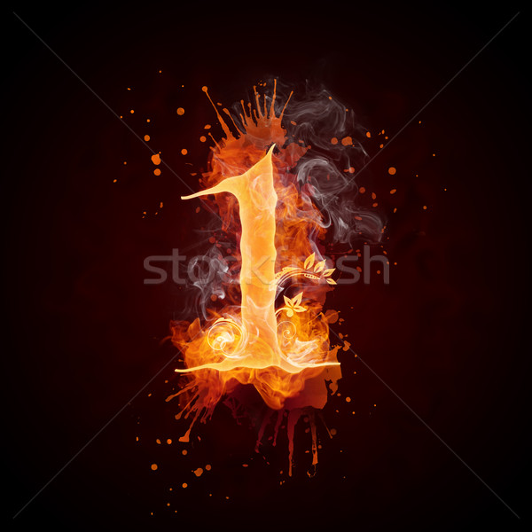 Fire Swirl Number 1 Stock photo © RAStudio