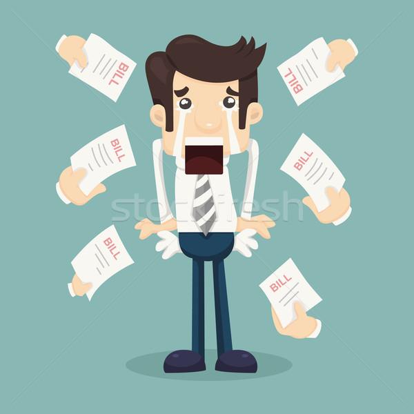 üzletember nincs pénz eps10 vektor formátum munka Stock fotó © ratch0013