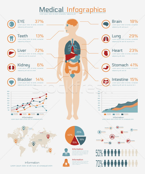Medical infographic Stock photo © ratch0013