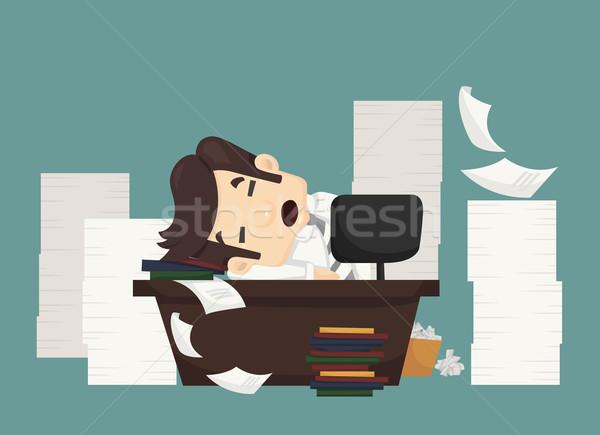 Businessman sleeping Stock photo © ratch0013