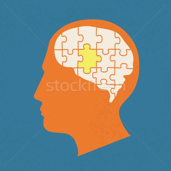 Stockfoto: Mensen · hoofd · communie · eps10 · vector · formaat