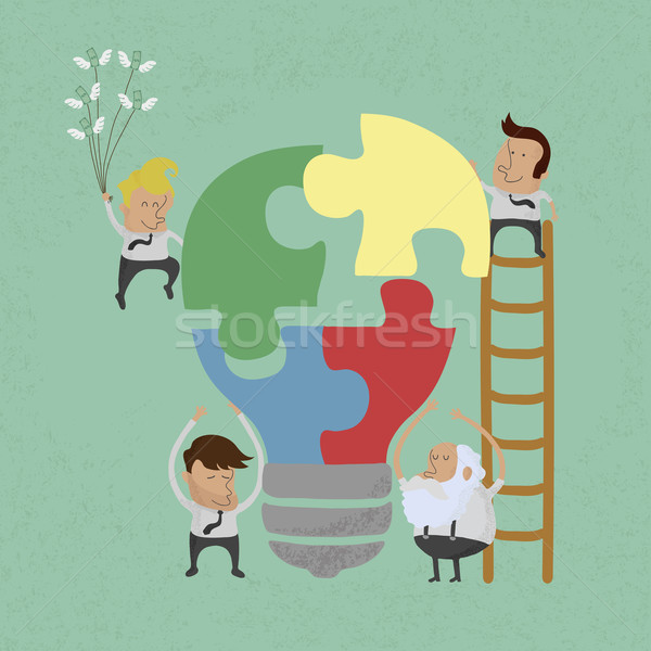 Businessman idea assembly , eps10 vector format Stock photo © ratch0013