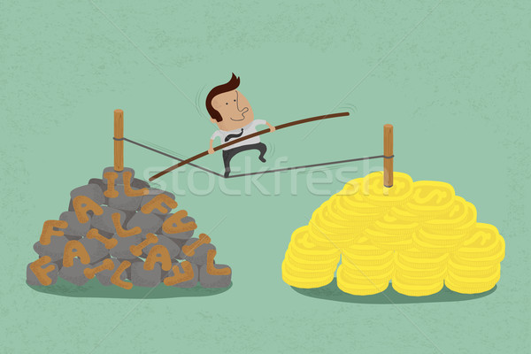 risks and challenges in business to success , eps10 vector form Stock photo © ratch0013