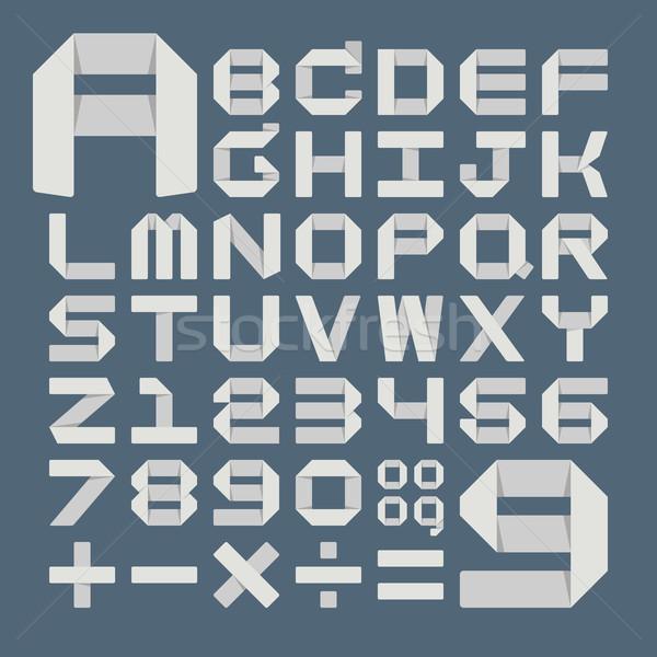 Stock photo: Origami alphabet ( A - Z )