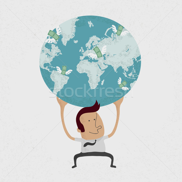 The whole world is in the hands of a businessman , eps10 vector  Stock photo © ratch0013