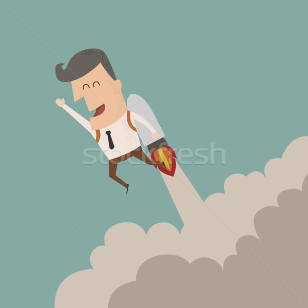 Zakenman groei eps10 vector formaat business Stockfoto © ratch0013