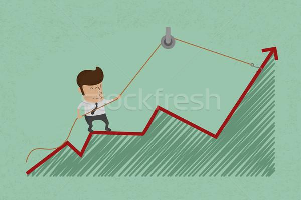 üzletember gyártmány gazdasági növekedés eps10 vektor Stock fotó © ratch0013