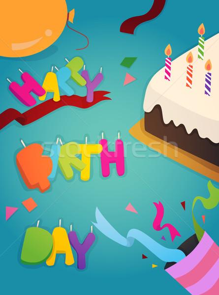 Joyeux anniversaire carte de vœux design eps10 vecteur format Photo stock © ratch0013