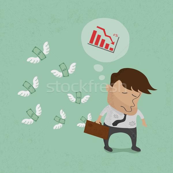 Stock photo: Businessman fail and money flying , eps10 vector format