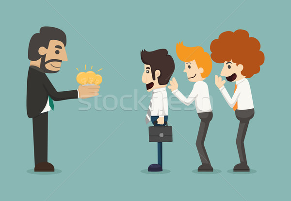 Businessman share idea Stock photo © ratch0013