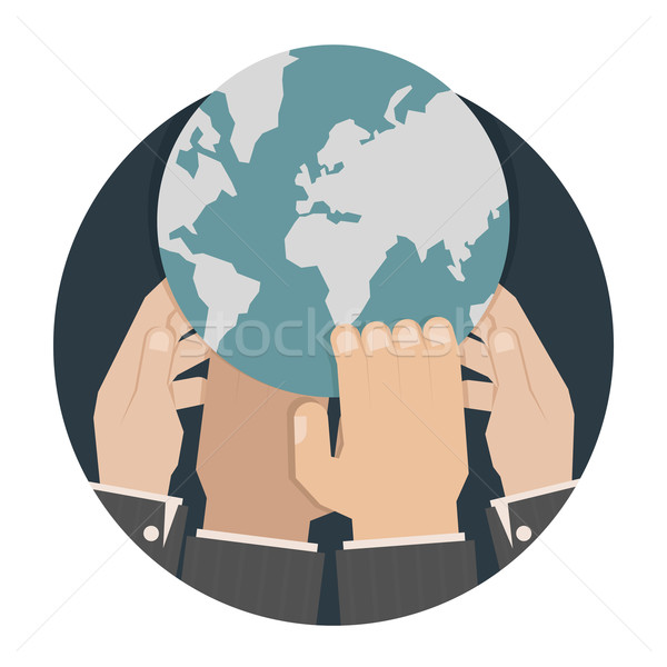 Hands reaching for the world Stock photo © ratch0013